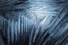 Icy pattern on glass - 2 Stock Photo