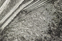 Icy pattern on glass - 4 Royalty Free Stock Image