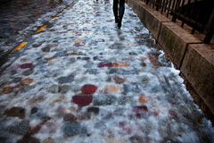Icy pavement Stock Photography