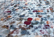 Icy pavement background Royalty Free Stock Image