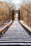 Icy Railroad Trestle Royalty Free Stock Image