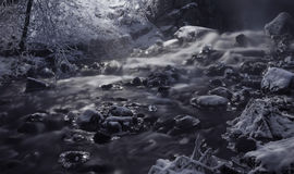 An Icy River. A river in Finland in the winter Royalty Free Stock Photos