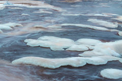 Icy river Royalty Free Stock Photo