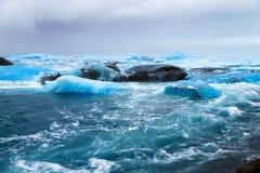 Icy river Jokulsarlon Stock Photo