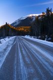 Icy Road Royalty Free Stock Image