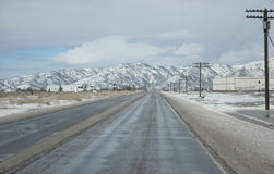 Icy road Royalty Free Stock Photos