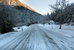 Icy Road, Austria Royalty Free Stock Photo