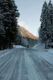 Icy Road, Austria royalty free stock photos