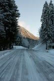 Icy Road, Austria Royalty Free Stock Photos