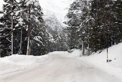Icy Road, Northern Italy Stock Images
