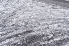 Icy road in a winter`s day. Ice covered road stock images