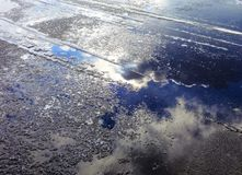 Icy road in winter Stock Photography