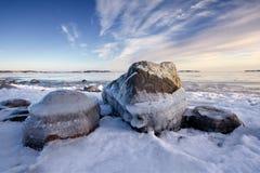 icy rockshav Royaltyfri Fotografi