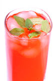 Icy rose mint drink Stock Photo
