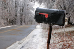 Icy rural mailbox Stock Photography