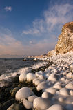 Icy shore of the East Sea. Stock Image