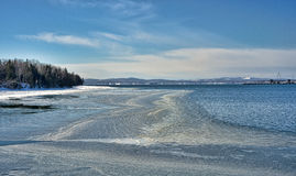 Icy shoreline at Sears Island Maine Royalty Free Stock Image