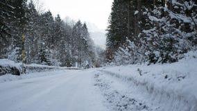 Icy slippery road Stock Photo