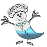 Icy snow bird Stock Photo