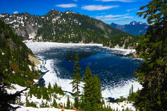Icy Snow Lake Stock Photography