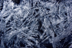 Icy snowflake. White ice crystals in the form of snowflakes Royalty Free Stock Photos