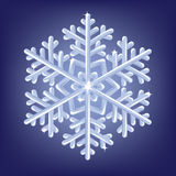Icy snowflake stock illustration