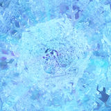 Icy Snowflake Abstract Stock Image
