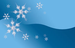 Icy Snowflake Background.  Vector EPS10. Stock Photo