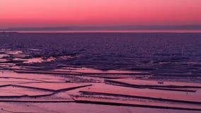 Icy solnedgång Arkivbild