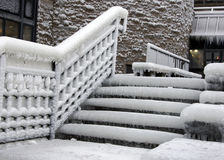 Icy Steps stock photography