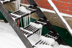 Icy Steps Royalty Free Stock Image