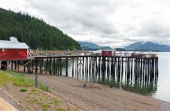 Icy Strait Point, Alaska. stock images