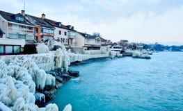 Icy strand II Arkivbild