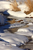 Icy Stream in Winter Royalty Free Stock Photo