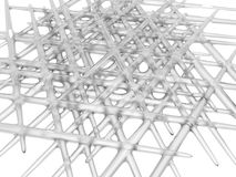 Icy structure with rod. Icy structure crossline markings with rod, bar Royalty Free Stock Photos