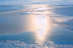Icy surface reflection Royalty Free Stock Photos