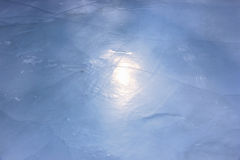 Icy surface of river Royalty Free Stock Photography