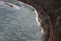 Icy Susquehanna Royalty Free Stock Photo