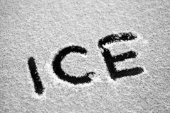 Icy text Royalty Free Stock Photography