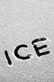Icy text Royalty Free Stock Image
