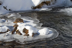 Icy torrent Royalty Free Stock Images
