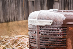 Icy Tractor Closeup Stock Image
