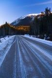 icy väg Royaltyfri Bild