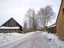 icy väg för land Arkivbild