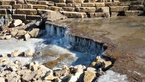 icy vattenfall Royaltyfria Bilder