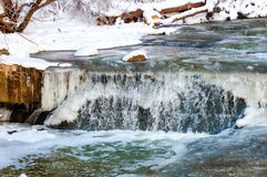 icy vattenfall Royaltyfri Bild