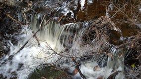 icy vattenfall Royaltyfri Foto