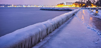 Icy Wall, Geneva Switzerland Stock Image