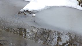 Icy Water Stream stock footage
