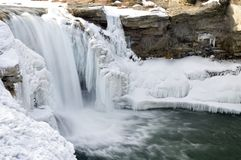Icy waterfall Royalty Free Stock Photos